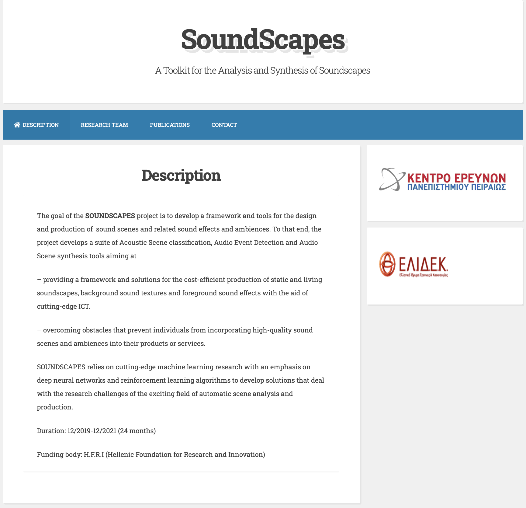 SoundScapes – A Toolkit for the Analysis and Synthesis of Soundscapes