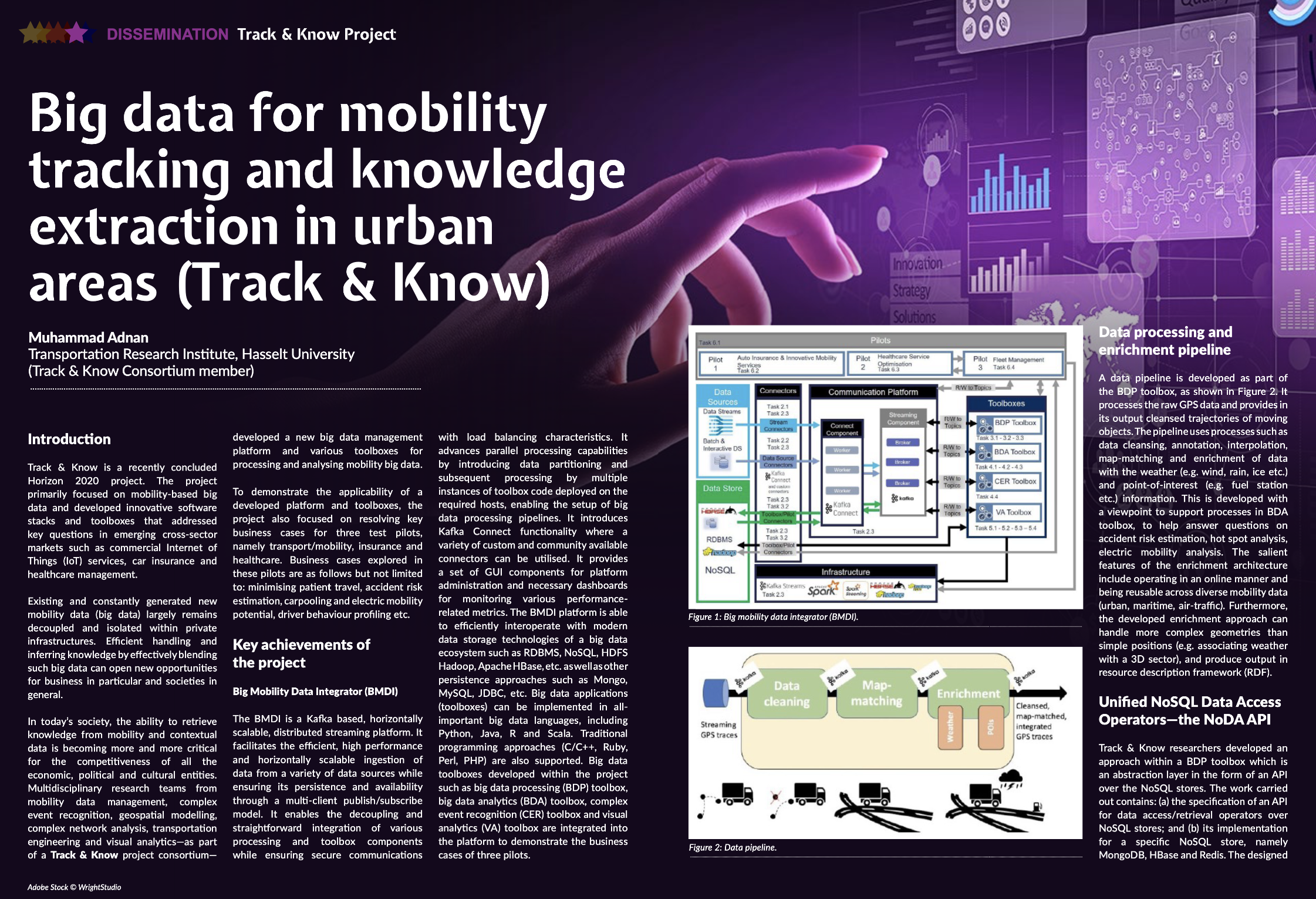 Big data for mobility tracking and knowledge extraction in urban areas (Track & Know)