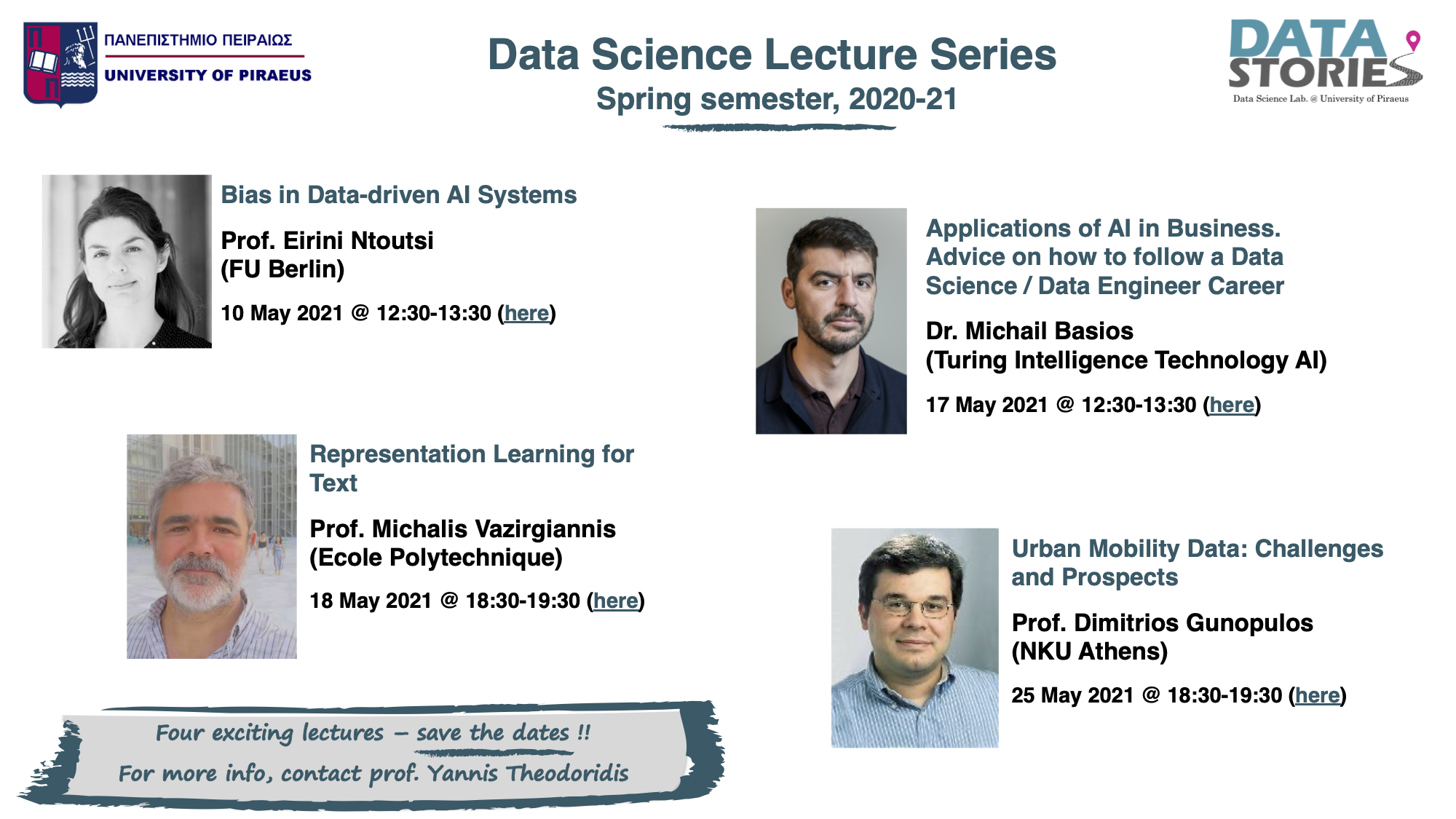 Data Science Lecture Series, Spring semester, 2020-21